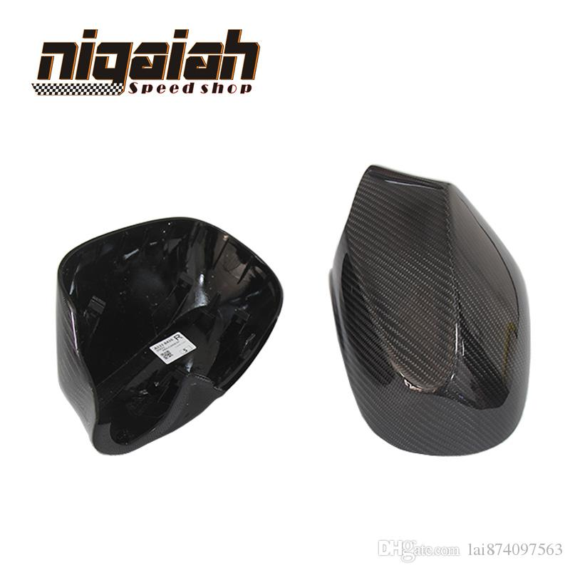1:1 Rear View mirror cover For BMW E87 E82 2010 2011 With Carbon Fiber Add on Style car stickers Replacement