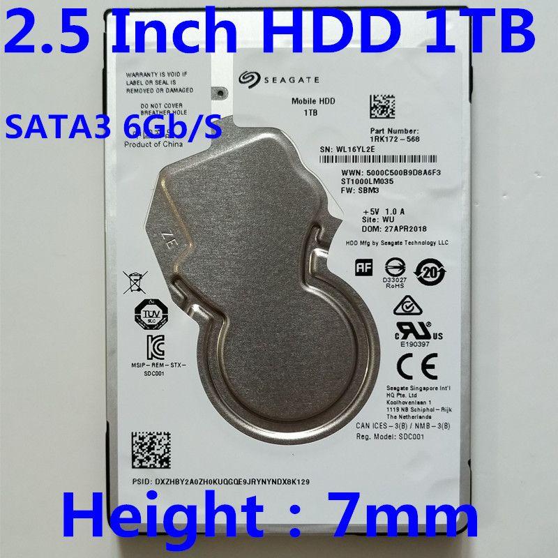 Новый Seagate 1TB 2.5 Desktop HDD Внутренний жесткий диск 5400 RPM SATA 6 Гбит / с 128 Мб кэша 2,5 ноутбук жесткий диск емкостью 1 Тб