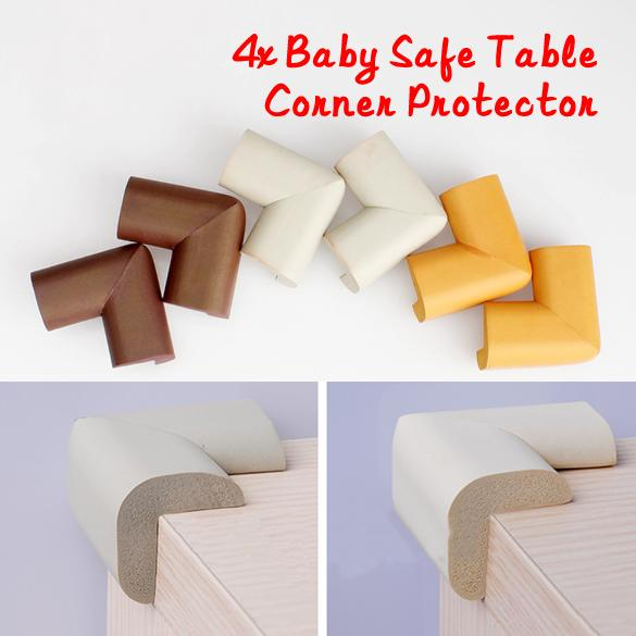 4X Baby Safe Cushion Corner Protector Anti-crash Soft Desk Table Guard Cover BE