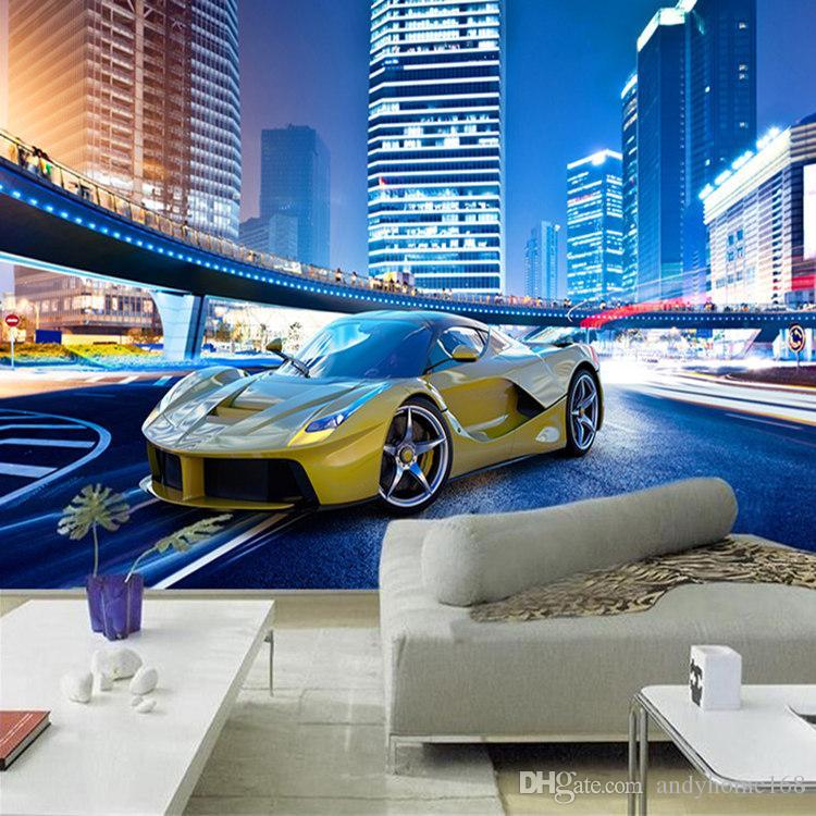 Custom 3D Photo Wallpaper Stereo City Sports Car Murals Living Room Sofa TV Bedroom Bedside Wall Decor Wall Painting