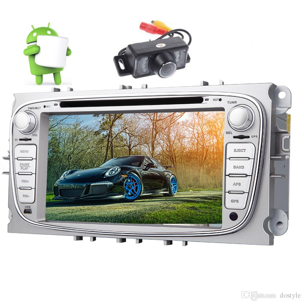 Android 6.0 Quad-core System 7'' Car Radio Stereo Double din HD Multi-touchscreen Car dvd Player for Ford Focus Mondeo Galaxy GPS Navi