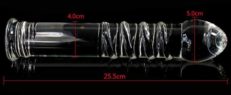 VAHPPY Y18110504 Anal Kristal Cam Çubuk Penis Fiş Oyuncaklar Yetişkin Ürünleri Kadınlar Kadın Mastürbasyon G-Spot Masaj Yapay Penis Butt AP02057 Seks Fiş QKBQ