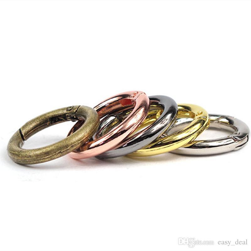 25mm 28mm srebrny złoto 5 kolorów metalowe pierścienie klamry do breloków akcesoria szybka wysyłka JC-036