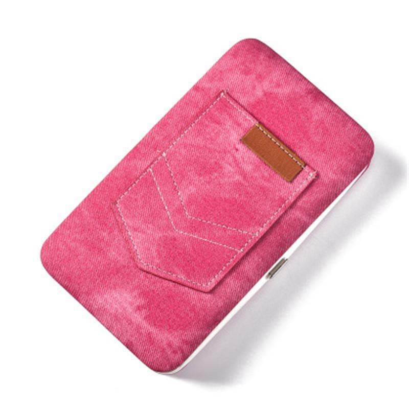 Capacité mignonne grande boîte à lunch multi-fonctionnel sac d'embrayage de haute qualité PU Tissu poche longue carte d'identité Détenteurs argent clip