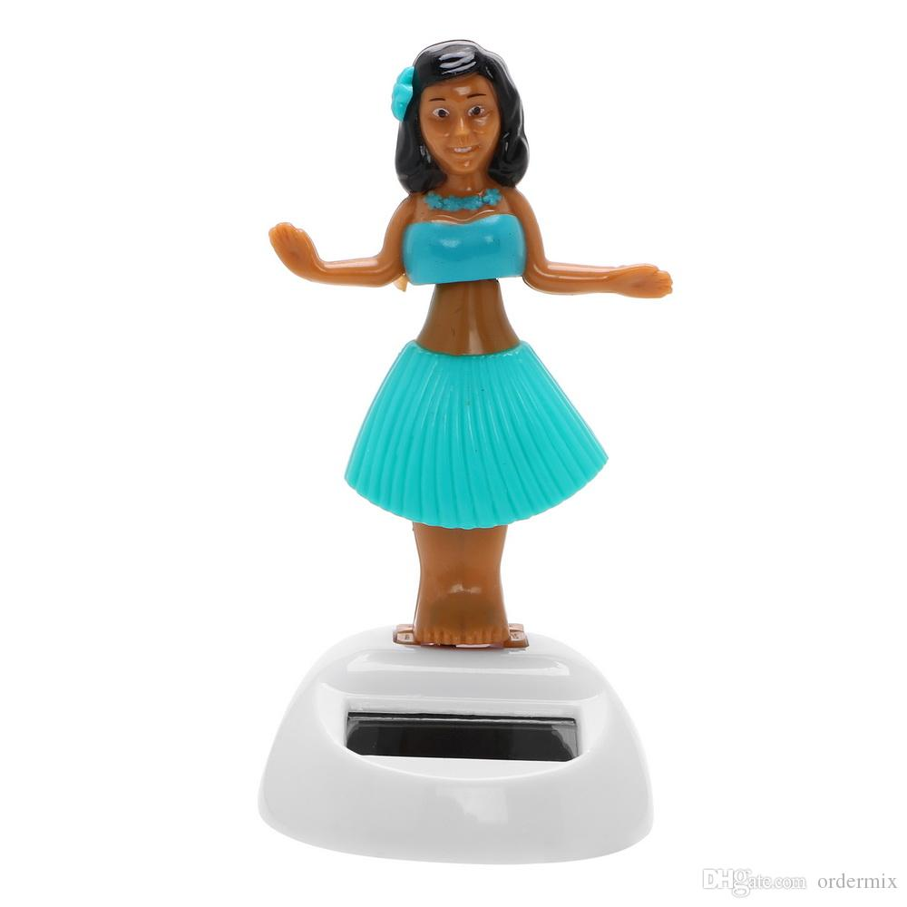 الرقص فتاة زينة السيارات بالطاقة الشمسية يتأرجح فتاة الشاطئ لوحة الديكور السيارات الداخلية اكسسوارات السيارات-التصميم