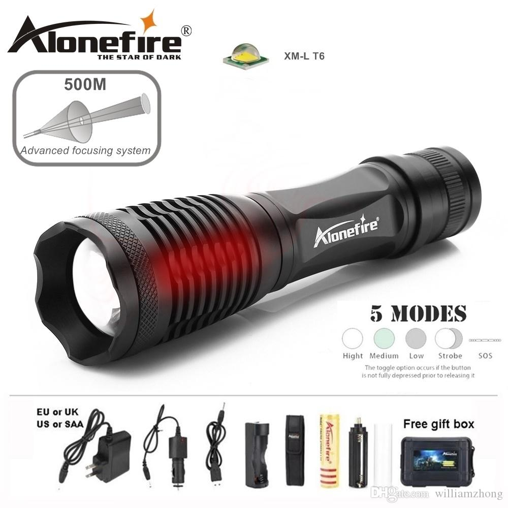 Alonefire E007 CREE XM-L T6 5000Lm Rechargeable LED Flashlight Waterproof Multifunction Remote Outdoor Home lantern Torch 18650 battery