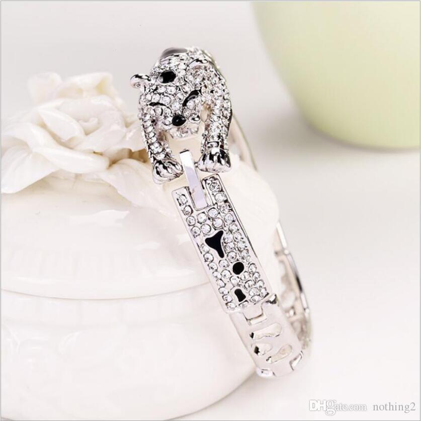 braclets joyería del diseñador para las mujeres Austria pulseras de cristal leopardo brazaletes simples de la manera libre caliente del envío