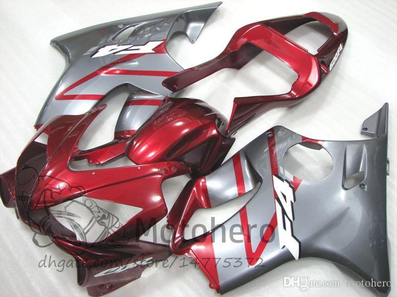 7gifts For Injection HONDA CBR600FS FS CBR600 F4i 01 02 03 CBR 600 F4i 2001 2002 2003 Red Silver E32F CBR600F4i 600F4i ABS Fairing