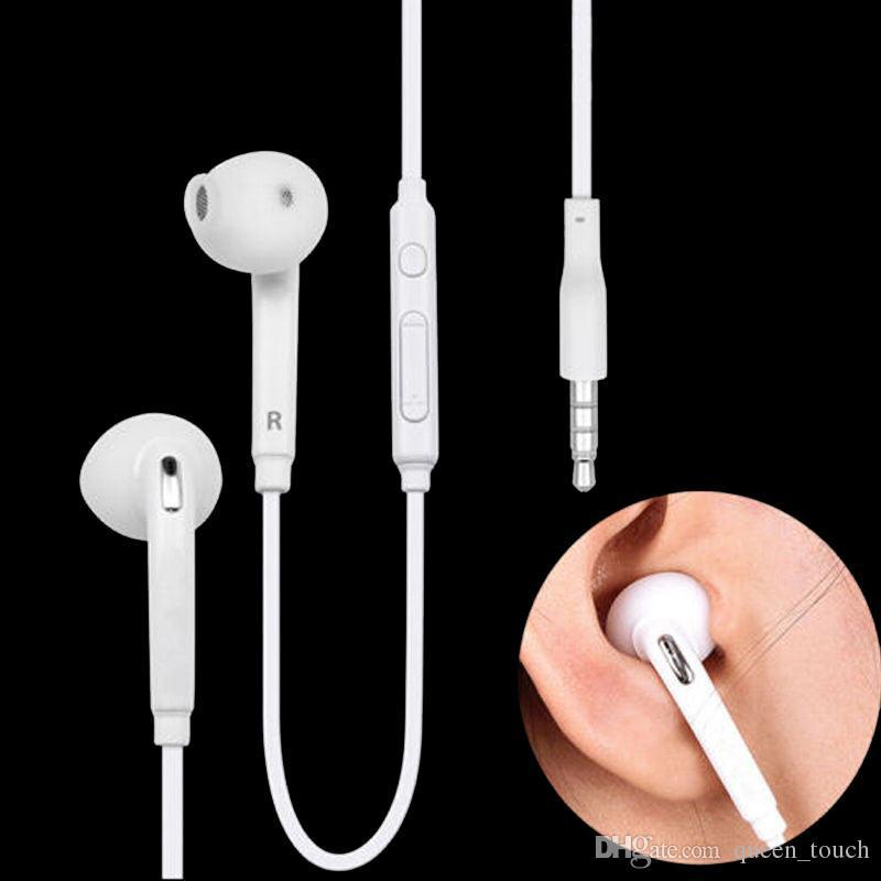 Mikrofon Ses Kontrol Beyaz Siyah EO-EG920LW ile Kulak S6 Kulaklıkları Yüksek Kaliteli 3,5 mm Kulaklık kulaklıklar