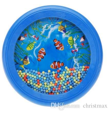 Ocean Wave Bead Drum Gentle Sea Sound Musical Educational Toy Tool for Baby Kid Child