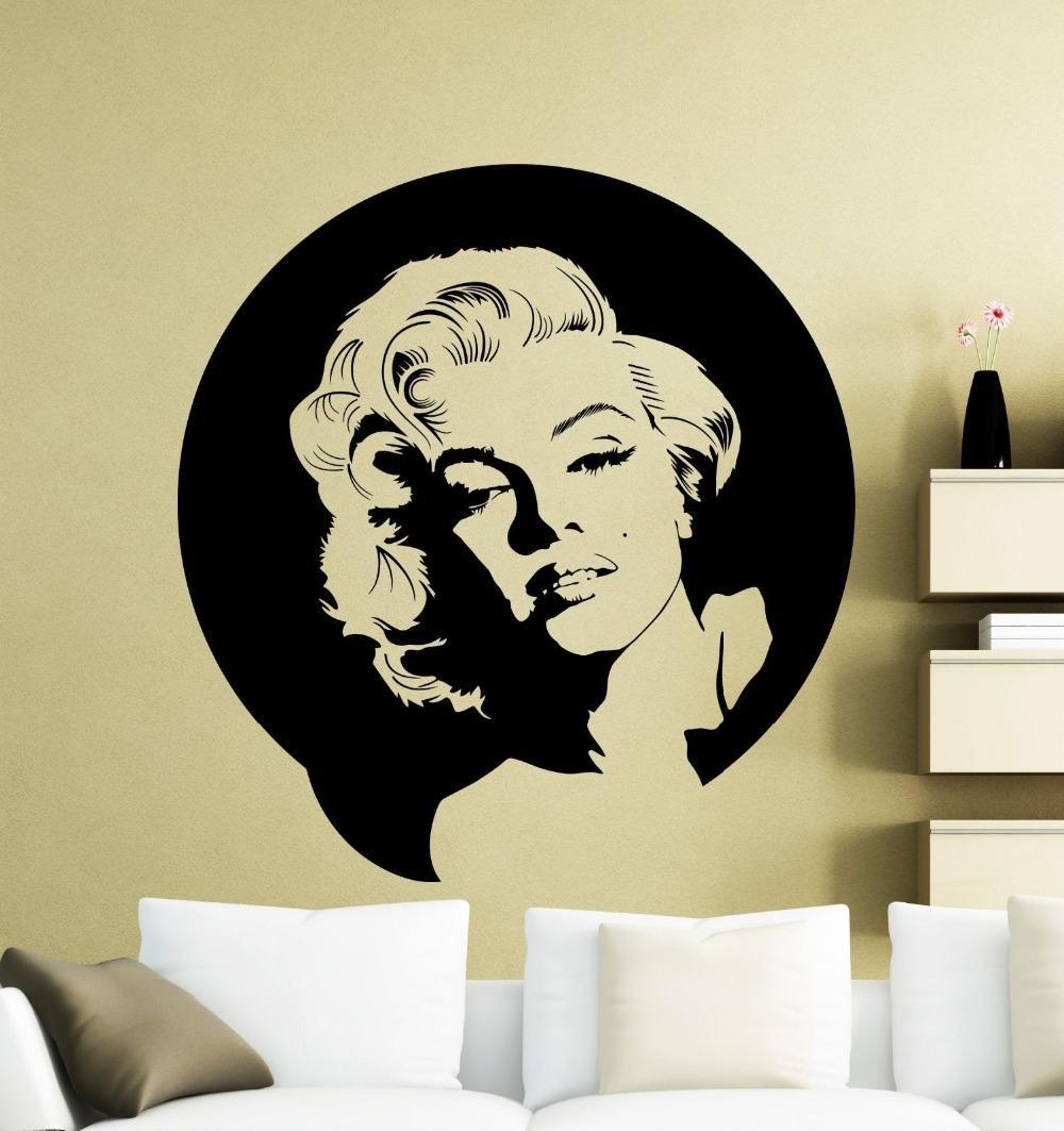 Deco Chambre Maryline Monroe acheter amovible marilyn monroe sticker mural en vinyle musique chanteur  wall sticker pour chambre salon décoration de la maison de 5,92 € du