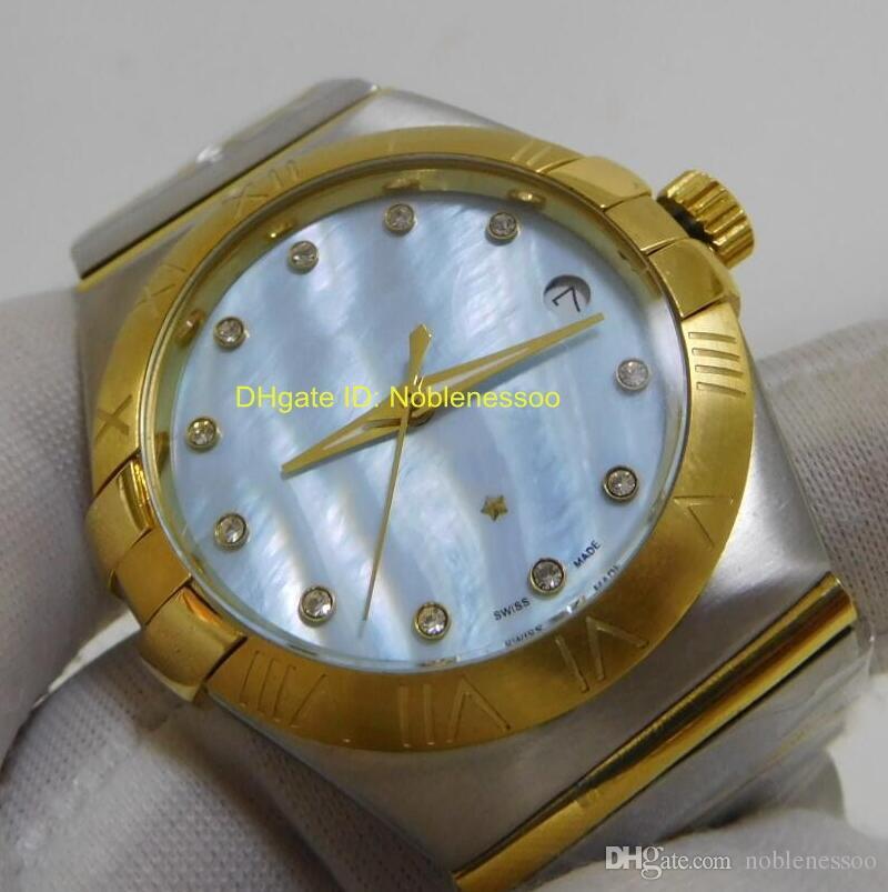 أعلى جودة ساعة اليد رجالي فاخر ووتش الرجال 38MM كلاسيكي كوكبة الماس حركة كوارتز ساعات رجالية فاخرة ووتش رجالي