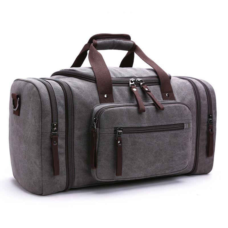 Leinwand Männer Reisetaschen Große Kapazität Weibliche Frauen Reisetaschen Handgepäck Tasche Männer Wochenendreise Handtaschen Neu