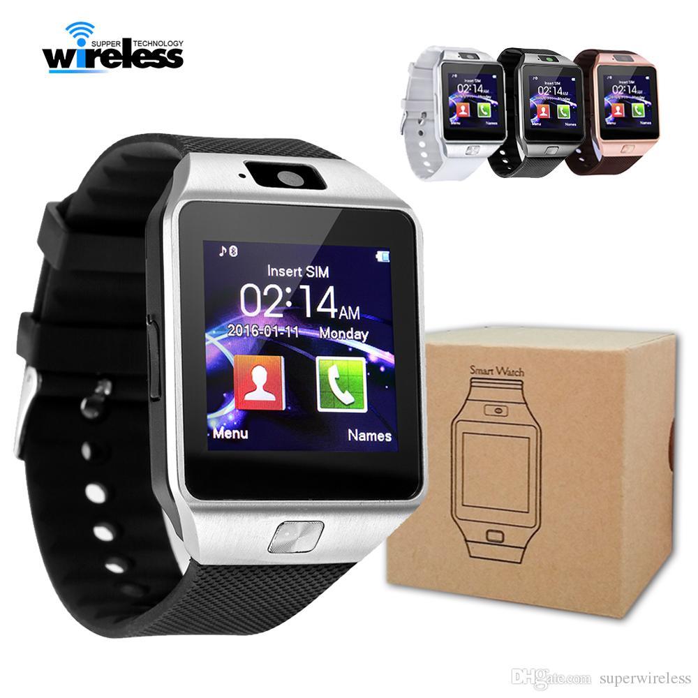 Inteligente reloj inteligente DZ09 pulsera de reloj de SIM Deporte inteligente Android para el apoyo inteligente Android Celulares Relógio TF tarjeta SIM vs q18