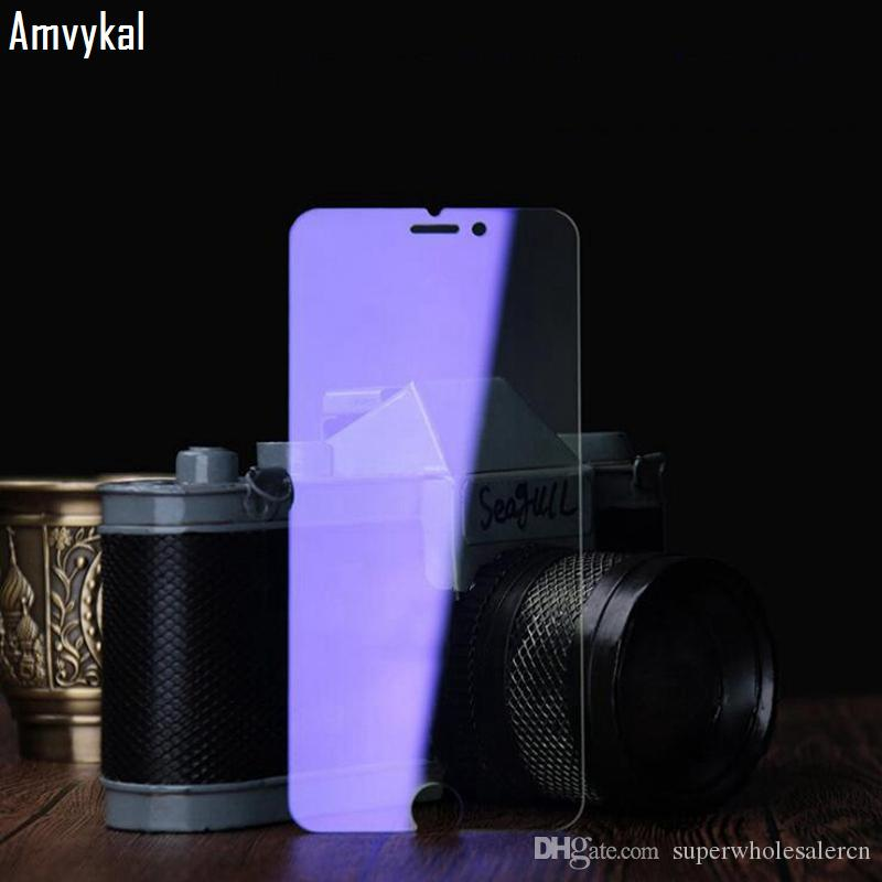 Anti-Purple Blue Light Glossy Tempered Glass Screen Protector For iphone 11 Pro Max XR XS Max SE 6s 7 8 Plus Glass Film