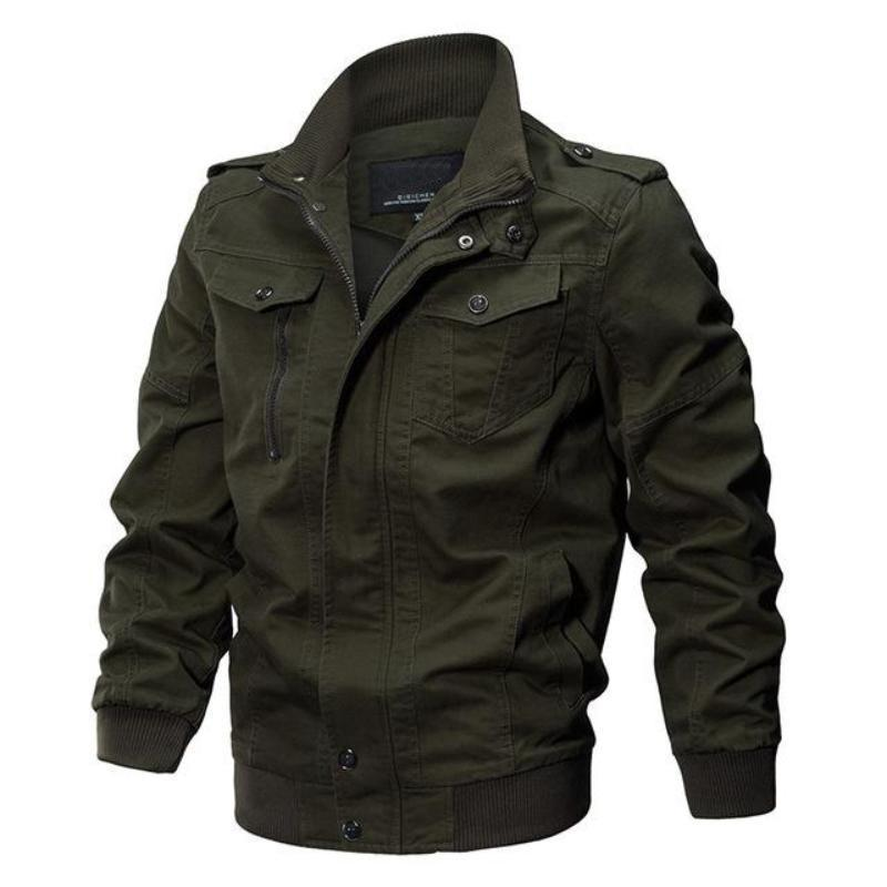 Новый 2018 Мужчины военная армия куртки плюс размер M-6XL Марка хлопок пальто верхняя одежда S18101802