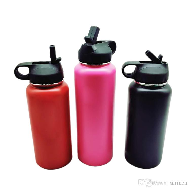 New Outdoor water bottle 18oz 32oz 40oz Sport Cups Insulated Stainless Steel Water Bottle Filp Lids Wide Mouth Big Capacity Water Bottle