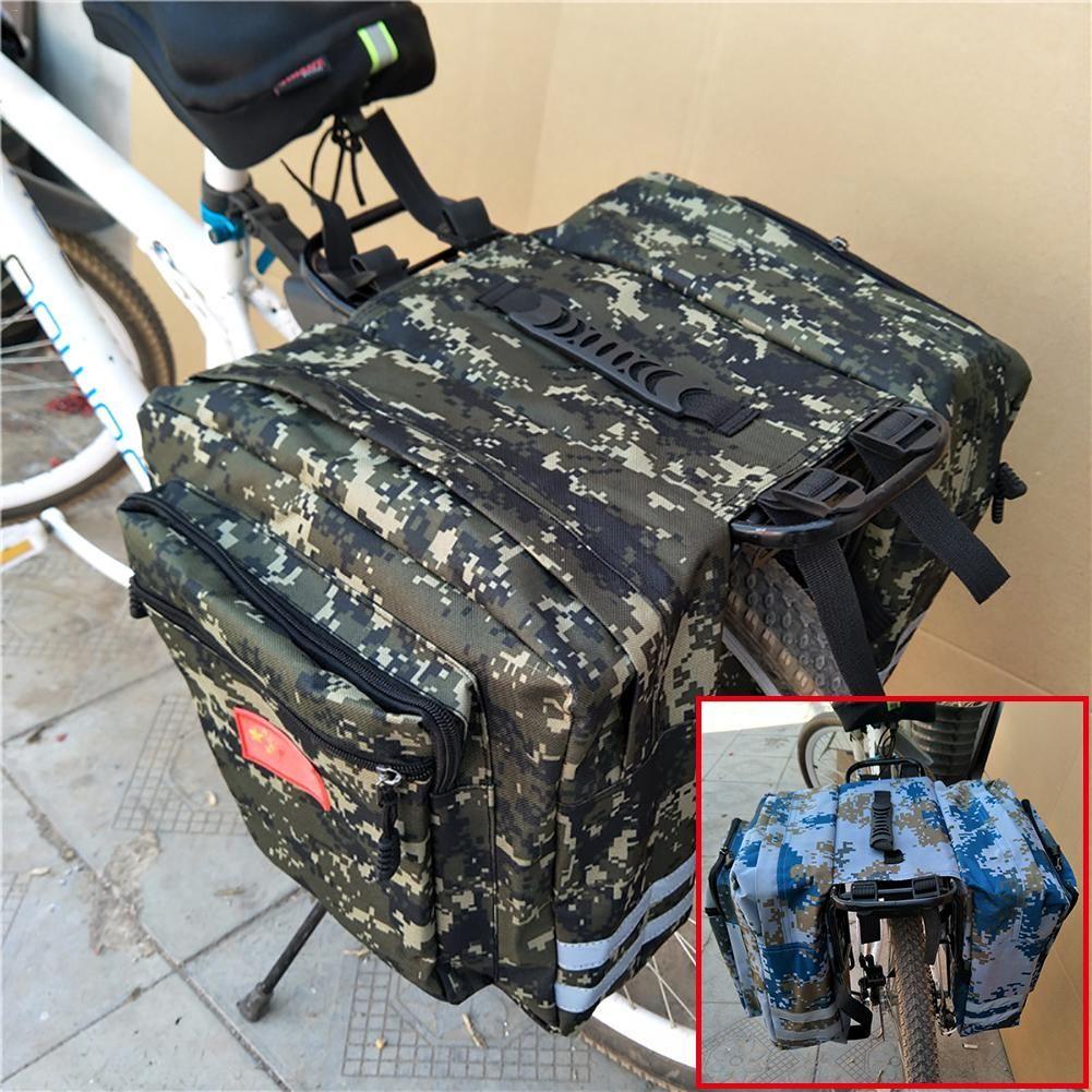 20L Camouflage Bicycle Rear Bag Pannier Bike Travel Seat Rack Carrier Waterproof