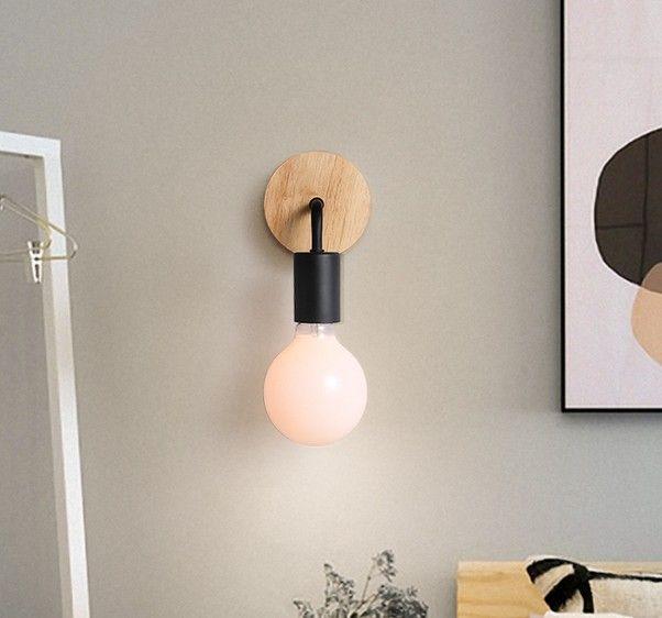Современные настенные светильники из железного дерева светодиодные настенные светильники старинные черные бра спальня домашнее освещение светильник ванная комната лампа