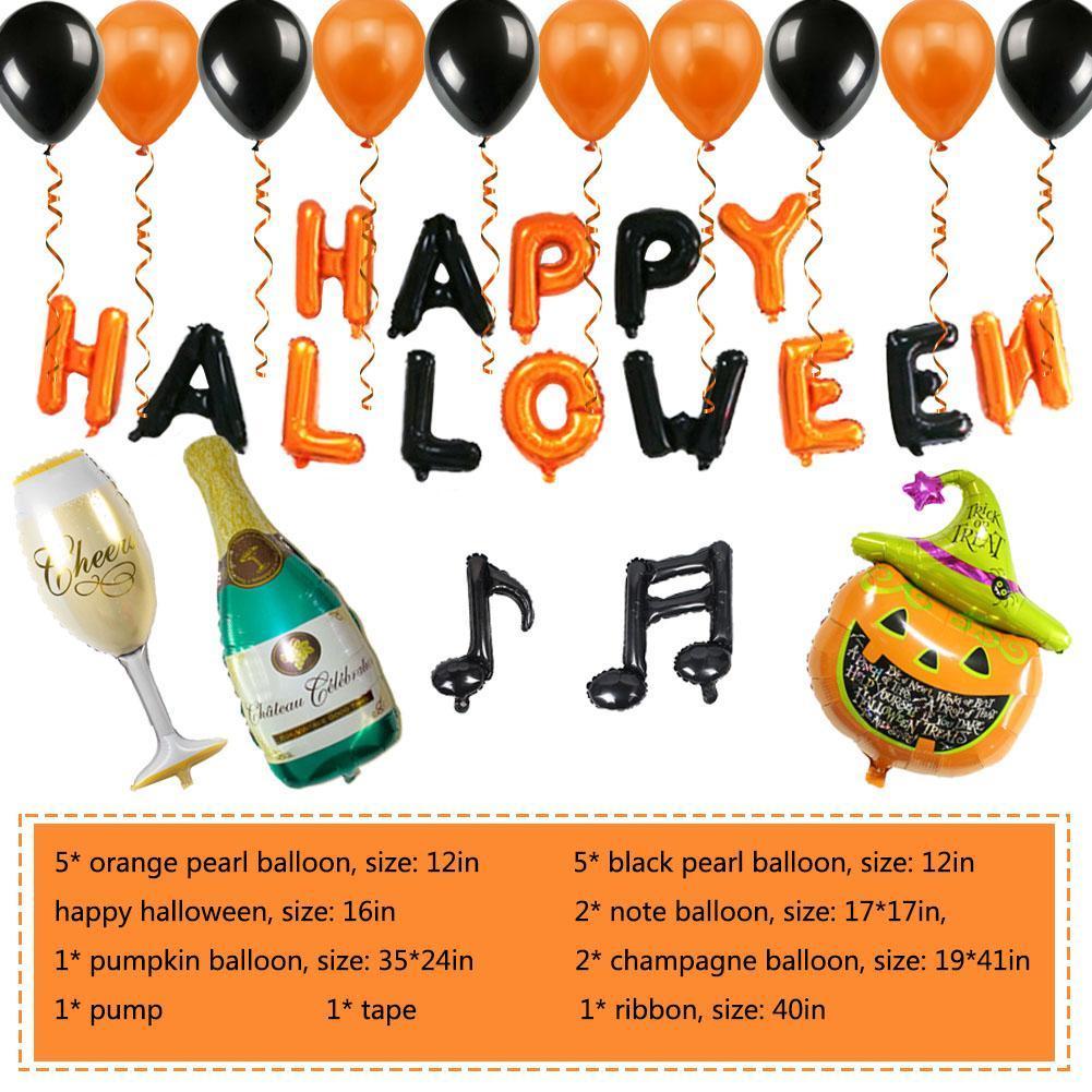 18 adet Cadılar Bayramı Kabak Hayalet Balonlar Cadılar Bayramı Süslemeleri Korku Örümcek Helyum Balonlar Için Bat Cadılar Bayramı Parti Malzemeleri