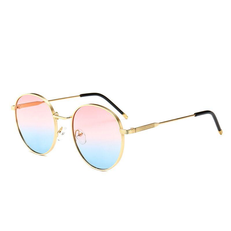 Retro Small Round Sunglasses Men Brown Green Yellow Lens Metal Frame Fashion Sun Glasses For Women Brand Vintage UV400 NX