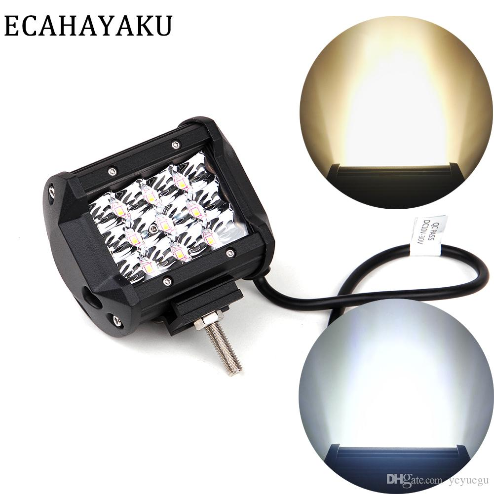 1Pcs 4inch Car Led Light Bar 6000K 18W 27W 36W 60W LED Work Lamp 12V FOR 4x4 OFFROAD ATV TRUCK BOAT Drop Shipping