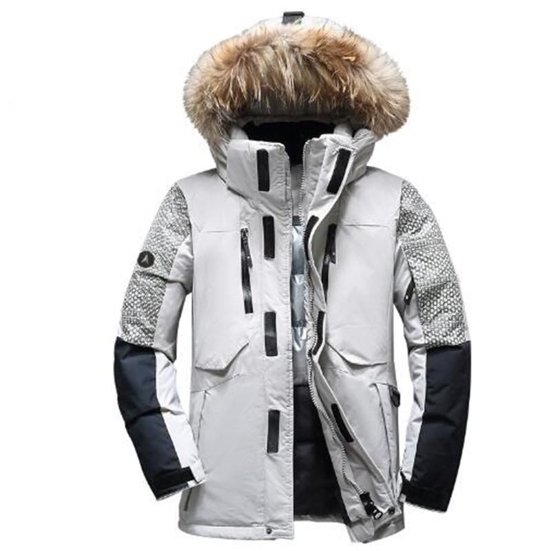 2017 men winter jacket thick warm white duck down coat high quality brand clothing casual wellensteyn men's parka