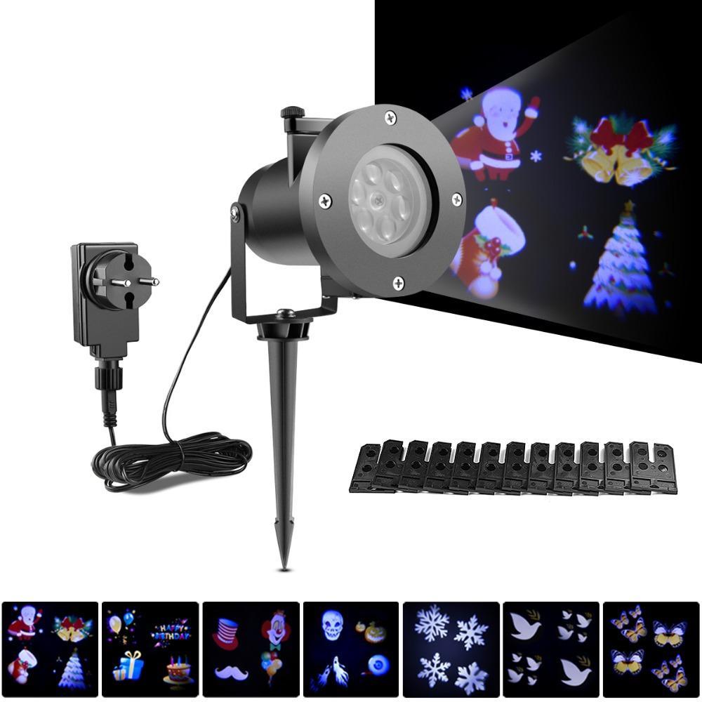 LED Projector Lights Christmas Halloween Decoration Lighting Lamp 110V 220V Waterproof Outdoor Garden Xmas Party Light
