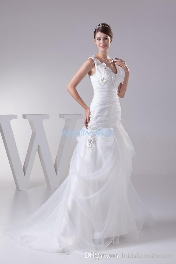 sexy wedding dresses free shipping kurti girl clothes new arrival custom size spaghetti strap lace embroidery wedding dresses