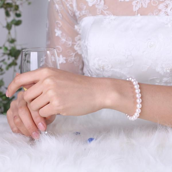 2018 Cheap Bridal Jewelry Faux Pearls Women Evening Prom Party Bracelet Bridal Accessory Chain In Stock White 2018