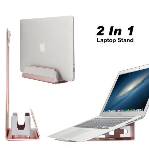 """Support pour ordinateur portable vertical en aluminium pour MacBook Pro Air Support ajustable pour ordinateur portable 11-13 """"pour tablette Chromebook Thinkpad"""