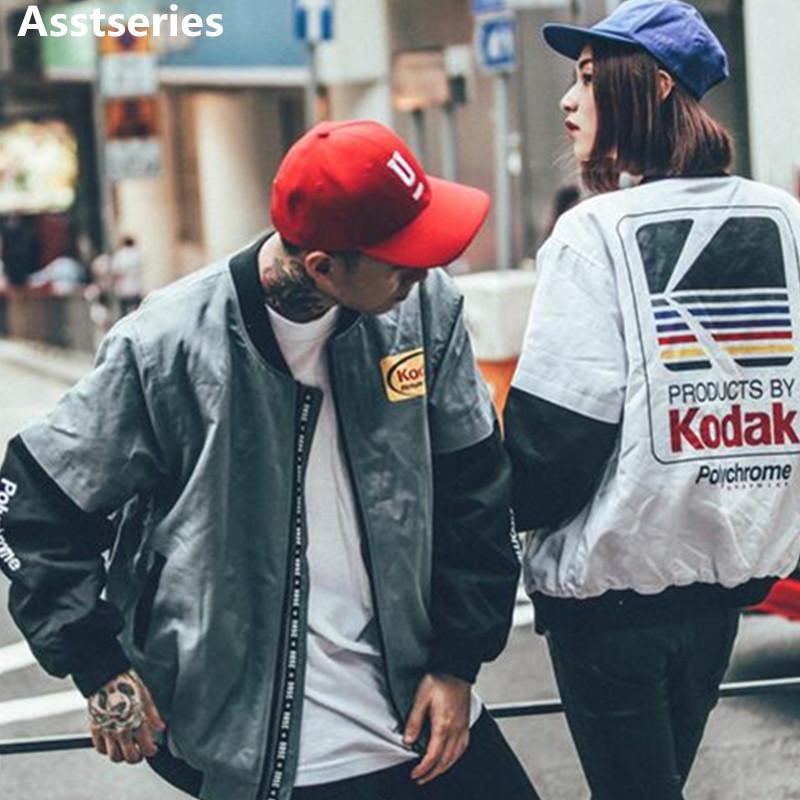 Women Men coat hot baseball Clothing outerwear Japanese style MA1 bomber jacket Harajuku pilot Harajuku street printing Jacket