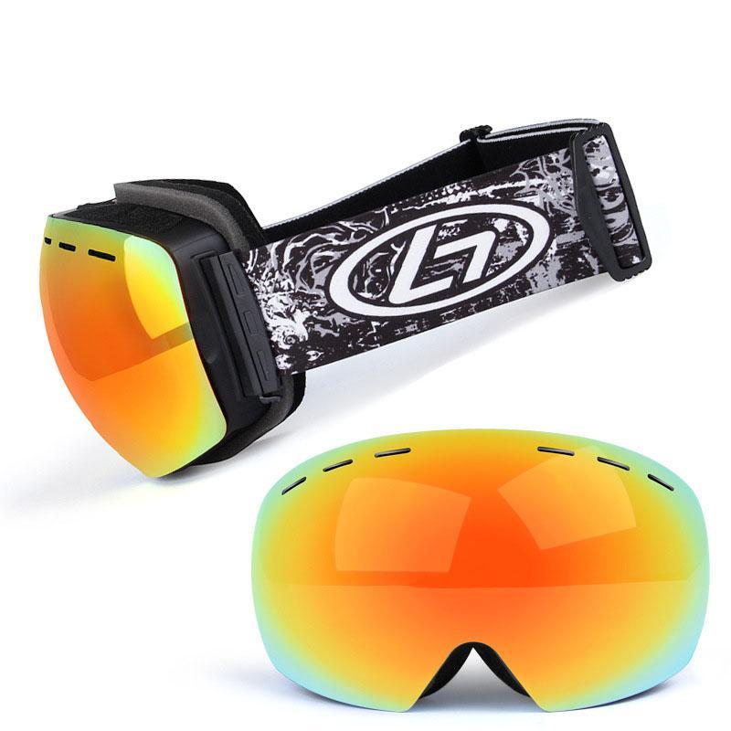 المهنية 2018 جديد نظارات التزلج مكافحة الضباب التزلج على الجليد التزلج على الجليد غوغل uv400 نظارات الجليد