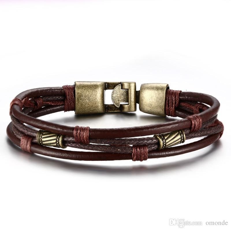 bracelet cuir style viking