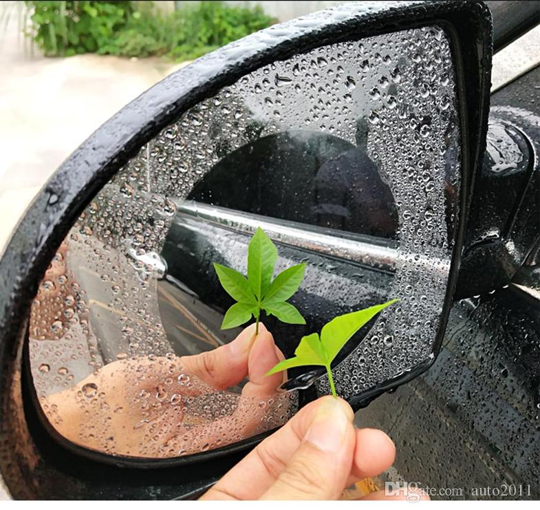 Car Rear View Mirror Rain Film Prevent Fog Anti Water 2 pcs Circular Ellipse Shape Moto Motorcycle Bike Mirror Film