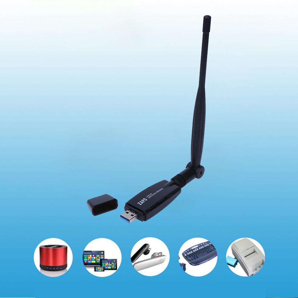 Mini 1200 Mbs Kablosuz USB Wifi Adaptörü W50L-5DB / RTL8812AU Dual Band USB3.0 Portu Kablosuz Ağ Kartı Harici Wifi Anten