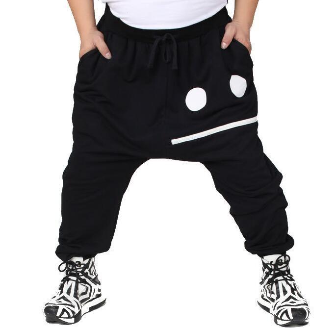 Mens Harem Hiphop Black Pants 캐주얼 루즈 스트리트 댄스 플러스 사이즈 롱 바지