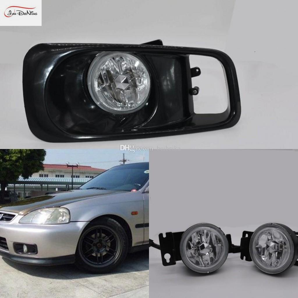 Автомобильные противотуманные фары для Honda Civic 1999 ~ 2000 ясно галогенные лампы H11-12V55W передние противотуманные фары бампер лампы комплект