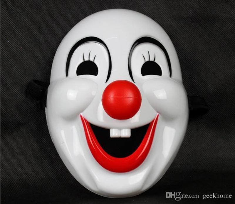 Maschera da jolly di Halloween Jester Maschera Forniture per feste festive Mardi Gras veneziani Maschere per palline in maschera Maschera da clown da uomo in PVC a pieno facciale