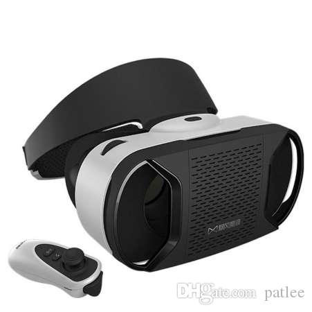 neue Virtual Reality 3D VR Brille Helm für 4-6 Zoll Android ios Smartphone 3D Virtual Video + Kostenlose Fernbedienung