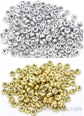 1000PCS/lot Mixed Alphabet Letter Acrylic Flat Cube Spacer Beads charms For Jewelry Making 6mm