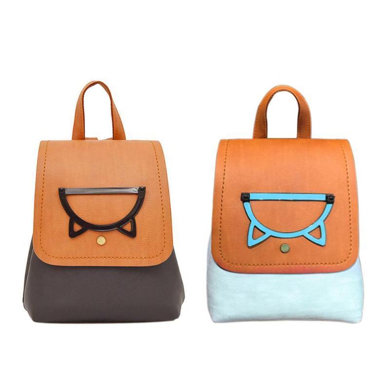 Симпатичные кошки женщины рюкзак искусственная кожа школьные сумки для подростков девочек путешествия рюкзак Женщины сумки на ремне женский рюкзак