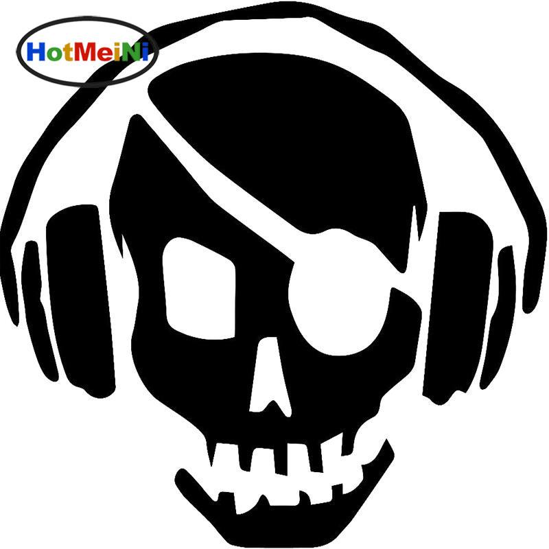 Wholesale Decals Car Stickers Glass Scratches Wall Bumper Truck Jdm Horror Skull Pirate Robber Wearing Headphones DJ Sound