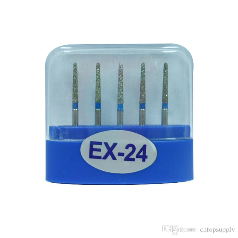 1 paquete (5 piezas) EX-24 Dental Diamond Burs Medium FG 1.6M para pieza de mano de alta velocidad dental Muchos modelos disponibles