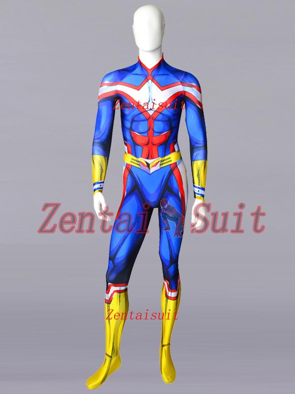 My Hero Academia All·Might Cosplay Costume Spandex Halloween zentai Suit