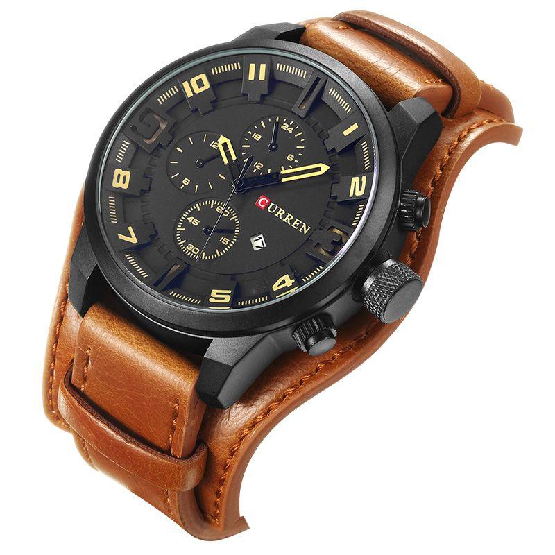 Curren 8225 do exército militar de quartzo mens relógios top marca de luxo homens de couro assistir esporte casual masculino relógio relógio relogio masculino 8225