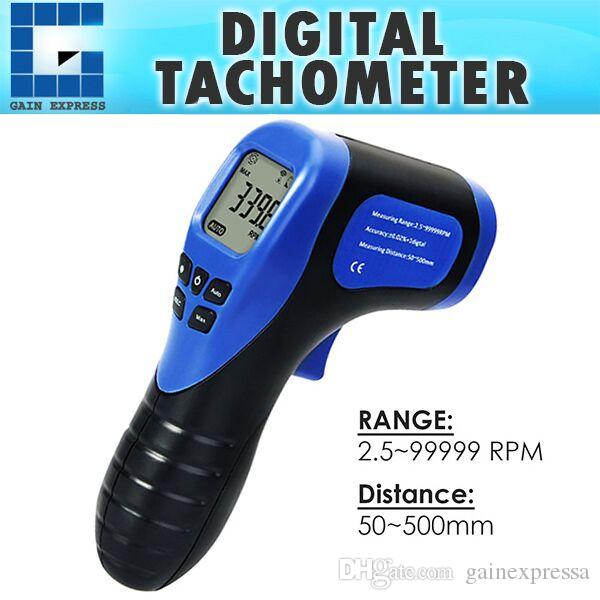 2019 TAC 44 Handheld Digital Laser Non Contact Tachometer