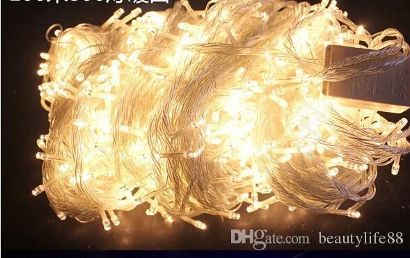 100M 600 أضواء LED أضواء حزب بقيادة مصباح عيد الميلاد الديكور حفل زفاف وميض سلسلة ضوء الاتحاد الأوروبي التوصيل دا كوردا