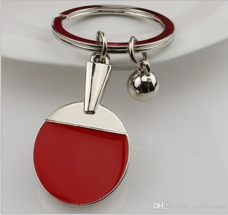 Classic Mini Metal Sports Table Tennis Keychain Key Chain Ring Holder Cute Gift Car Keyring Accessories Souvenir Kids Toy Novel Gift H842R