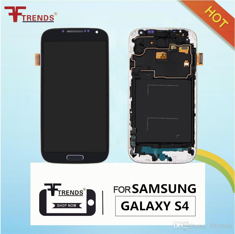 High Quality TFT adjust brightness Touch Screen & Digitizer Assembly for Samsung Galaxy S4 i9500 i9505 i545 R970 i337 LCD Replacement